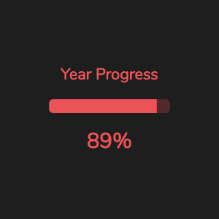 Year progress Widget